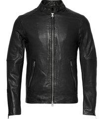cora jacket leren jack leren jas zwart allsaints