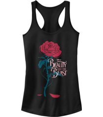 disney juniors' beauty and the beast logo rose ideal racerback tank top