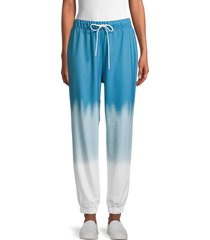 wdny women's tie-dyed sweatpants - indigo - size l