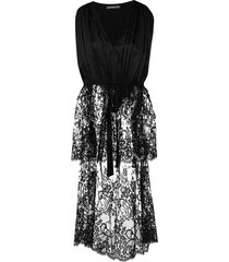 alexander mcqueen long-tailed lace tunic - black