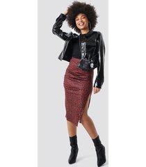 na-kd side split leopard print skirt - multicolor
