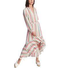 1.state striped high-low dress