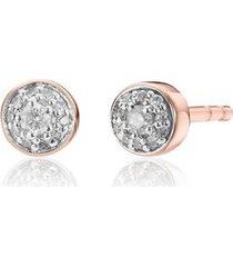 rose gold fiji tiny button diamond stud earrings diamond