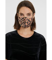 leopard face mask + pouch - black - u
