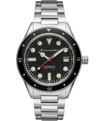 spinnaker men's cahill mid-size automatic silver-tone stainless steel bracelet watch 40mm