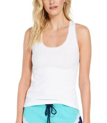 jenni ribbed lace-trim tank top, created for macy's