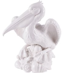 fitz and floyd cape coral collection small pelican figurine