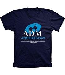 camiseta lu geek manga curta administração azul marinho