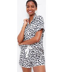 loft leopard print pajama shorts