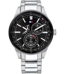 tommy hilfiger men's stainless steel bracelet watch 44mm