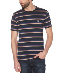 original penguin men's multi stripe short sleeve t-shirt