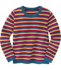 gebreide pullover, gestreept 134/140