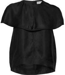 musa blouses short-sleeved zwart tiger of sweden
