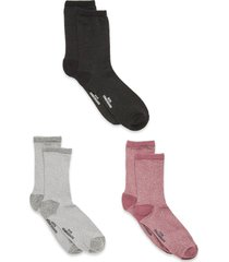 dina solid mix 3 lingerie socks regular socks rosa becksöndergaard