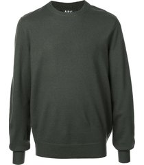 a.p.c. han sweater - green