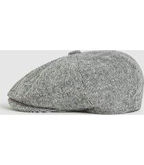 reiss clinton - christys' baker boy cap in multi, mens, size m/l