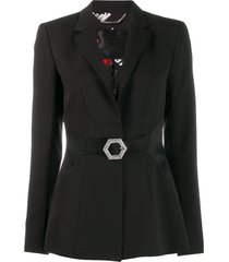 philipp plein crystal blazer - black