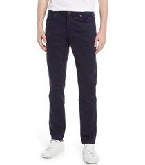 men's reiss kalkan men's slim fit five pocket stretch cotton pants, size 32 x 32 - blue