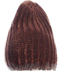 avant toi bicolor corn cob stitch hat with destroyed effect
