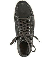 höga sneakers i nubuckskinn jomos svart