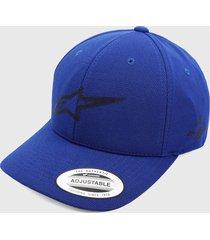 gorra azul royal-negro alpinestars angless velo