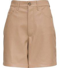 nanushka vegan leather leana shorts