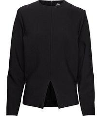 belcolle blouse lange mouwen zwart totême