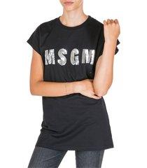 msgm leopardard t-shirt