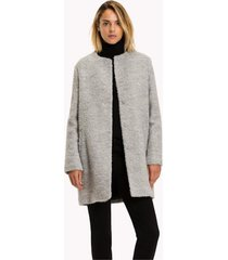 campera gris tommy hilfiger cami boucle wool coat
