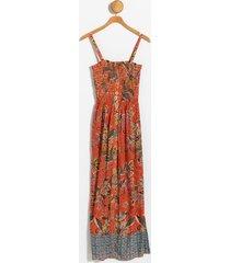 daphney smocked top maxi dress - orange