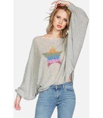 sash dripping star - xs/s heather grey