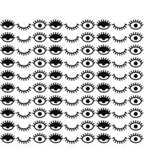 adesivo de parede decohouse eyes preto