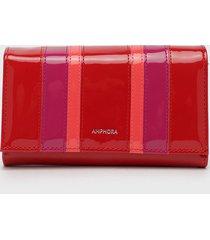 billetera rojo amphora
