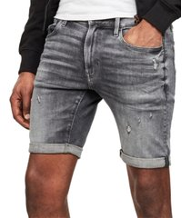 g-star raw men's 3301 slim-fit denim shorts