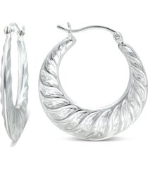 giani bernini small fancy hoop earrings in sterling silver, created for macy's