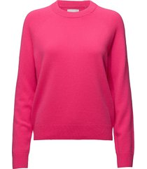 boston o-neck 6304 stickad tröja rosa samsøe samsøe