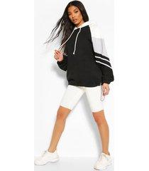 oversized colour block hoodie