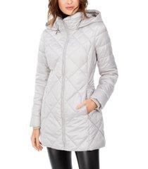 marc new york diamond quilt hooded puffer coat