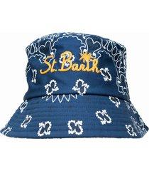 blue bandanna hat