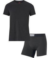 t-shirt + boxerkalsonger levi's bw starterpack giftbox
