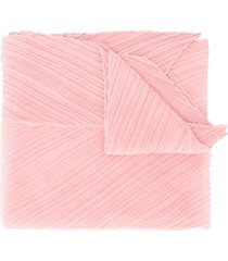 pleats please issey miyake micro-pleated pointed scarf - pink