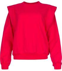 katoenen trui met schouderdetails simone  roze