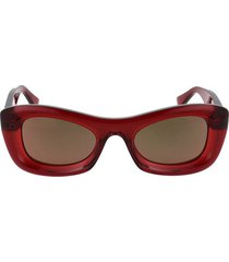 thick acetate clear sunglasses