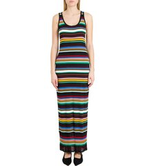 m missoni ribbed knit dress with multicolor striped pattern