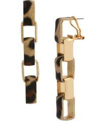 jessica simpson leopard link linear earrings