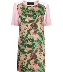 mr & mrs italy camo print t-shirt dress - pink