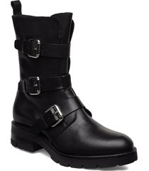 bikerboot shoes boots ankle boots ankle boots flat heel svart apair
