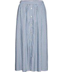 makita beach skirt aop knälång kjol blå moss copenhagen