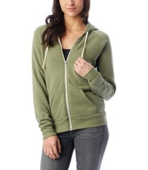 alternative apparel adrian eco-fleece women's zip hoodie