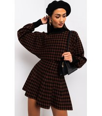 akira fall vibes only plaid knit top